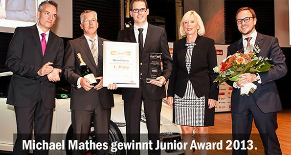 porsche zentrum mannheim michael mathes gewinnt junior award 2013. Black Bedroom Furniture Sets. Home Design Ideas
