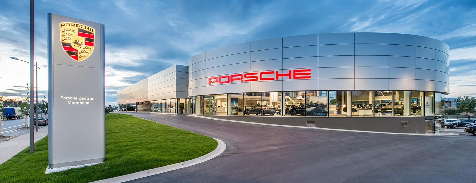 Porsche-centrumet i Mannheim